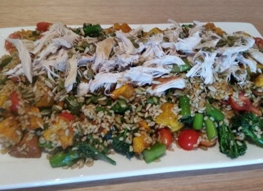 Broccolini, Pumpkin and Rice Salad